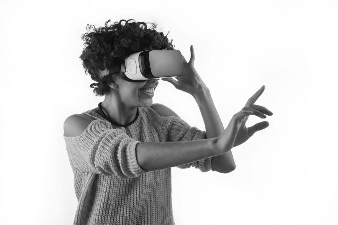 VR gogle ilustracja